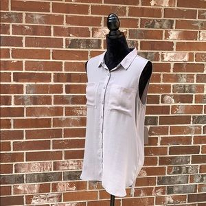 H&M divided high lo tunic button down